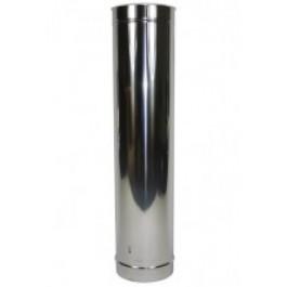 Dubbelw. HT-200(250) 100 cm buisdeel RVS Zwart