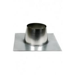 Dubbelw. HT-80(130) dakplaat plat 0°-10° RVS-stut