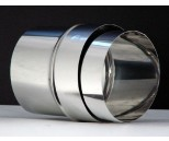 Aansl. flex Ø125 mm RVS EK