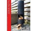 D-Flame Rota30 tuinhaard, zwart